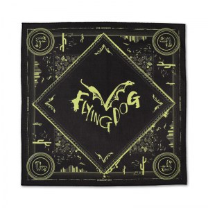 Flying Dog bandanas with water based inks.