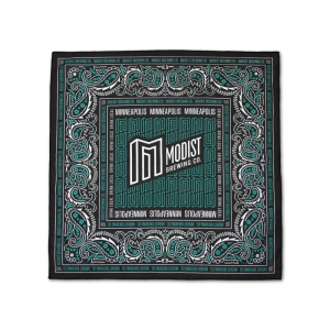 Modist custom pattern bandana with water based inks.