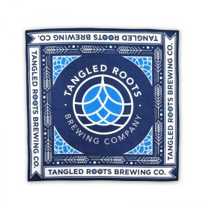 Tangled Roots bandana with water based inks.