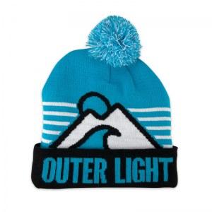 Outer Light knit pom beanie.