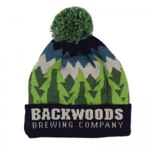 Backwoods knit pom beanie.