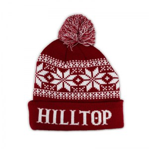 Hilltop knit pom beanie.