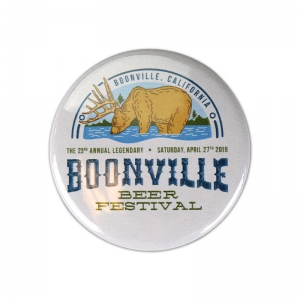 "Boonville Beer Fest 1"" round button."