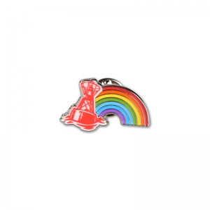 Buoy pride soft enamel lapel pin.