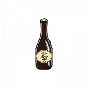 Creature Comforts bottle lapel pin.