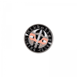 Mikkeller viking club lapel pin.