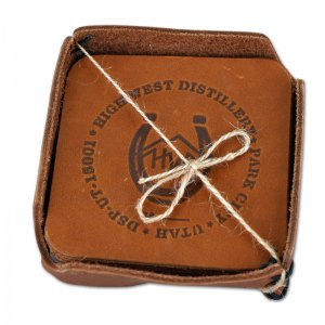 High West Leather Coasters