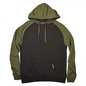 Sunriver_Hoodies_Raglan-Charcoal-Green_Front_800px