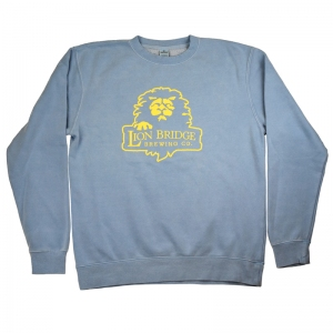Lion Bridge crew neck pigment dye sweatshirt