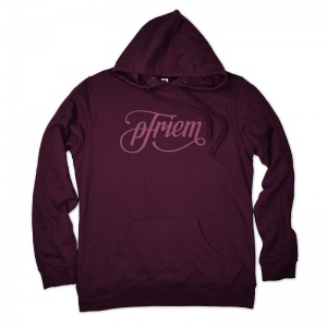 pFriem ladies hoodie with tonal print
