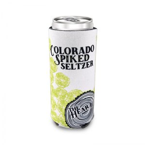 Colorado Spiked Seltzer sublimated 12oz slim coozie