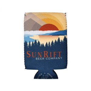 Sun Rift full color sublimated neoprene coozie