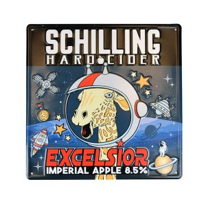 "Schilling Cider 16"" square full color tacker"