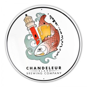 Chandeleur round full color tin tacker