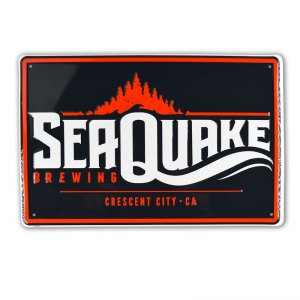 "Sea Quake 12x18"" 2-color tin tacker"