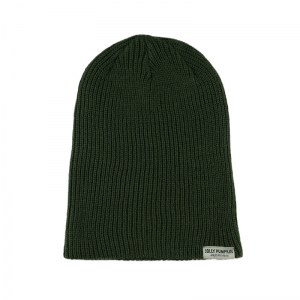 Jolly Pumpkin slouch beanie with woven label tag