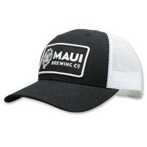 Maui black patch trucker hat