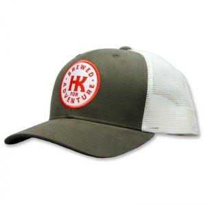 Hana Koa patch green trucker hat