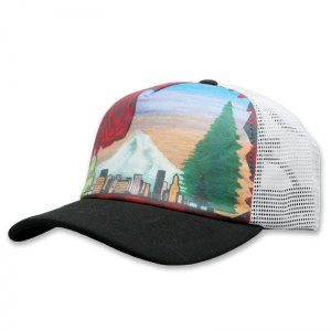 Four Roses sublimated foam trucker