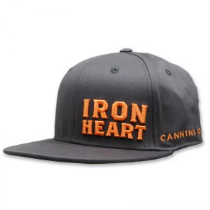 Iron Heart Canning 3d puff embroidered flat bill