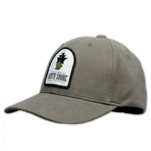 South Shore grey flex style hat with patch