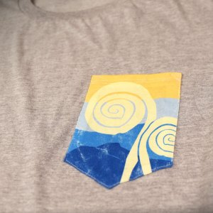 Sublimated full color custom pocket for Fiddlehead longsleeve.