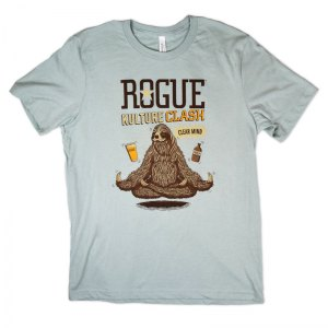 Rogue blend tee with water based inks.