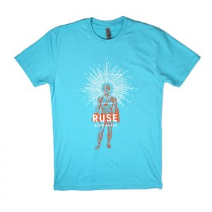 Ruse triblend tee with water based inks.
