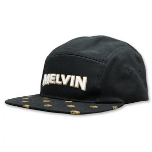 Melvin camper hat with pattern printed bill and 3d puff embroidered logo
