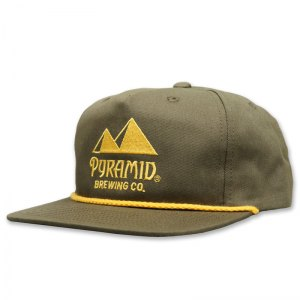 Pyramid cap with embroidered front logo