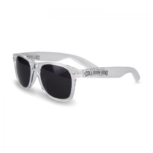 Collision Bend clear frame sunglasses