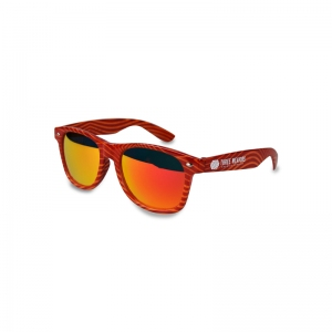 Three Weavers full wrap custom sunglasses with orange lenses