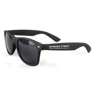 Alvarado Street matte black sunglasses